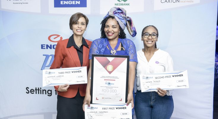 the three winners of the engen competition