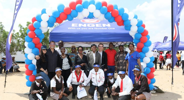 engen management and retailers with the teachers and learners from Diepsloot secondary school