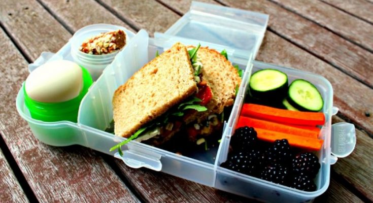 a lunchbox filled with food