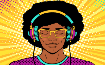animation of guy wearing headphones