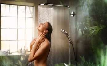 a women in the shower