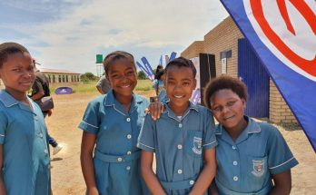 Learners at Madima Primary School Saulspoort are delighted with their new facilities