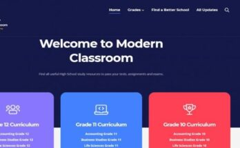 modern classroom banner