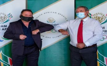 L-R - Neil Wilkinson Managing Director at Kryolan South Africa and Barry Hendricks SASCOC President_6_ (002)