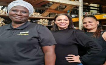 Dbn Ladies_Phindile Shoba, Melanie Mokawem and Marcia Rossouw