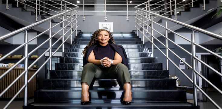 Nelisiwe Masango, CEO Ubuntu Invest_stairs wide angle_1_